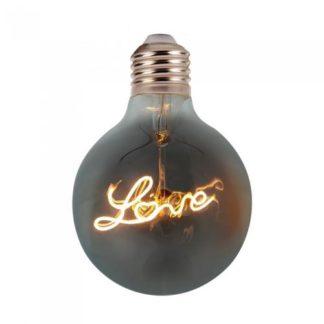 Λάμπα LED E27 Special Filament G125 5W Θερμό λευκό 2200K Amber cover vtac 2700