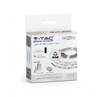 Σετ εύκαμπτης ταινίας LED SMD5050 60 LEDs RGB IP20 συμβατή με Amazon Alexa & Google Assistant vtac 2583