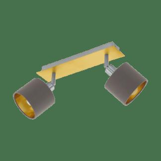 Σποτ Δύφωτο Ε14 2x10W, Καπουτσίνο με Χρυσό Χρώμα Eglo Valbiano 97537