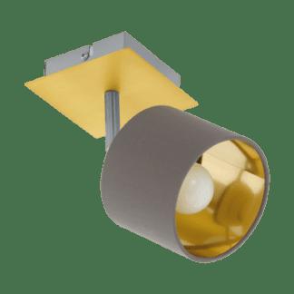 Σποτ Μονόφωτο Καπουτσίνο Και Χρυσό Χρώμα Eglo Valbiano 97536