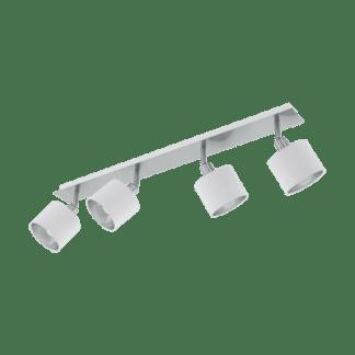 Σποτ Τετράφωτο Ε14 4x10W, Ασημί με Λευκό Χρώμα Eglo Valbiano 97535