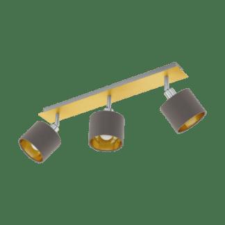 Σποτ Τρίφωτο Ε14 3x10W, Καπουτσίνο με Χρυσό Χρώμα Eglo Valbiano 97538