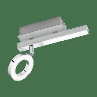 Φωτιστικό Σποτ Τοίχου & Οροφής Led Δίφωτο με Λευκό Χρώμα Eglo Cardillio 96178