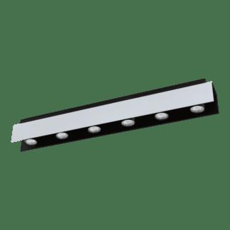Φωτιστικό οροφής Εξάφωτο 6χ5W Λευκό Αλουμινίου Και Μαύρο Χρώμα Eglo Viserba 97964