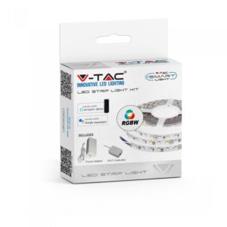 Σετ εύκαμπτης ταινίας LED SMD5050 60 LEDs RGB+W IP20 συμβατή με Amazon Alexa & Google Assistant vtac 2584