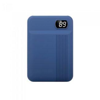 Power Bank 10000mAh με οθόνη και μπλε σώμα με 2 θύρες V-TAC 8853