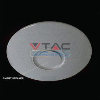 WiFi Πλαφονιέρα LED 35W RGB + 3000K,4000K,6400K με ενσωματωμένο ηχείο και χειρισμός από smart phone vtac 1490