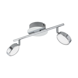 Σποτ Οροφής & Τοίχου Δίφωτο 2x5,4W Με Χρωμιομένο ατσάλι Eglo Salto 95629