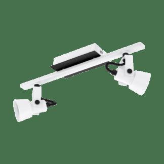 Σποτ Οροφής & Τοίχου Δίφωτο 2x5W Σε Μαύρο Και Λευκό Χρώμα Eglo Trillo 97372