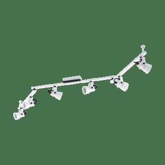 Σποτ Οροφής &Τοίχου Εξάφωτο 6x5W Σε Μαύρο Και Λευκό Χρώμα Eglo Trillo 97375