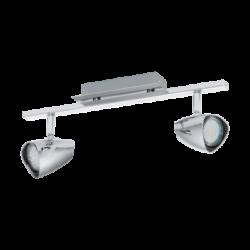 Σποτ Οροφής & Τοίχου Μεταλλικό LED Δίφωτο 2Χ3W από ατσάλι και πλαστικό σε χρώμιο Eglo Corbera 93673