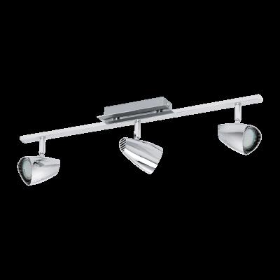 Σποτ Οροφής & Τοίχου Μεταλλικό LED Τρίφωτο 3Χ3W από ατσάλι και πλαστικό σε χρώμιο Eglo Corbera 93674