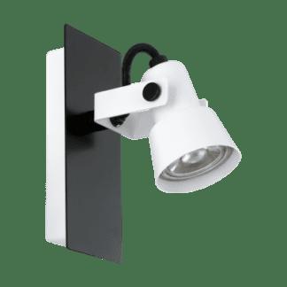Σποτ Οροφής & Τοίχου Μονόφωτο 1x5W Σε Μαύρο Και Λευκό Χρώμα Eglo Trillo 97371