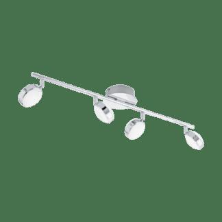 Σποτ Οροφής & Τοίχου Σποτ Τετράφωτο 4×5,4W Χρωμιομένο ατσάλι Eglo Salto 95632