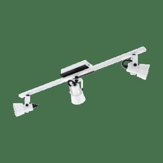 Σποτ Οροφής & Τοίχου Τρίφωτο 3x5W Σε Μαύρο Και Λευκό Χρώμα Eglo Trillo 97373