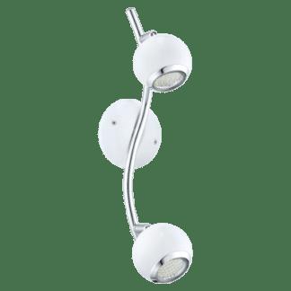 Σποτ Οροφής & Τοίχου LED Δίφωτο 2x3W με Λευκό-Χρώμιο ατσάλι Eglo Nocito 31002