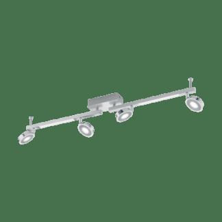 Σποτ Οροφής & Τοίχου LED Εξάφωτο 4Χ3,3W και 2Χ3,3W από αλουμίνιο και χρωμιομένο ατσάλι με κάλυμμα από ματ πλαστικό Eglo Cardillio 95999