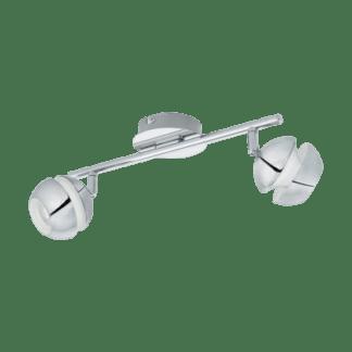 Σποτ Οροφής & Τοίχου LED Μεταλλικό Δίφωτο 2x3,3W από Λευκό-Χρώμιο ατσάλι Eglo Nocito 95478