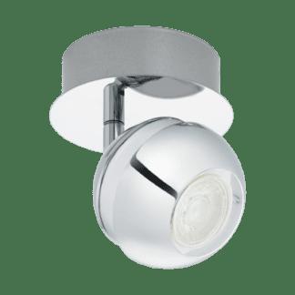 Σποτ Οροφής & Τοίχου LED Μεταλλικό Μονόφωτο 1x3,3W από Λευκό-Χρώμιο ατσάλι Eglo Nocito 95477