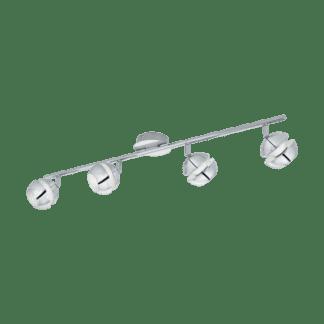 Σποτ Οροφής & Τοίχου LED Μεταλλικό Τετράφωτο 4x3,3W από Λευκό-Χρώμιο ατσάλι Eglo Nocito 95481