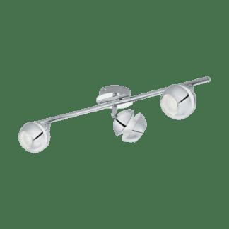 Σποτ Οροφής & Τοίχου LED Μεταλλικό Τρίφωτο 3x3,3W από Λευκό-Χρώμιο ατσάλι Eglo Nocito 95479
