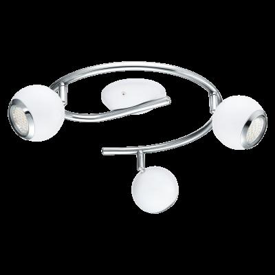 Σποτ Οροφής & Τοίχου LED Τρίφωτο 3x3W με Λευκό-Χρώμιο ατσάλι Eglo Nocito 31003