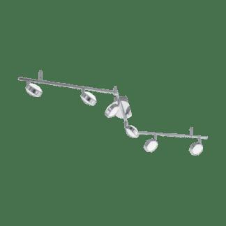 Σποτ Οροφής και Τοίχου Σποτ Εξάφωτο 6×5,4W Χρωμιομένο ατσάλι Eglo Salto 95633