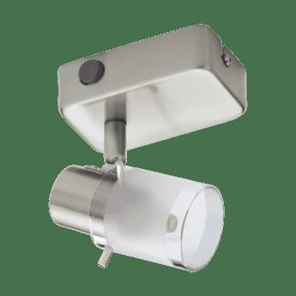 Σποτ οροφής και τοίχου LED μεταλλικό Μονόφωτο 1Χ3.3W από ματ νίκελ ατσάλι και κάλυμμα από διαφανές λευκό ματ γυαλί Eglo Orvieto 93701