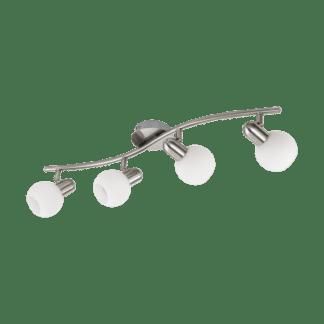 Σποτ φωτιστικό Τοίχου Τετράφωτο 4x6W Σε Νίκελ Και Λευκό Χρώμα Eglo Comba 97712