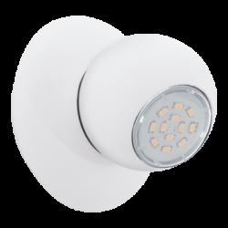 Σποτ Oροφής & Tοίχου LED Mεταλλικό Mονόφωτο 1x5W από λευκό ατσάλι Eglo Norbello 3 93167