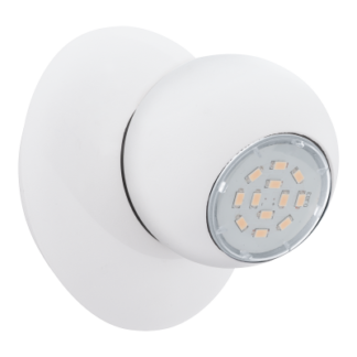 Σποτ Oροφής & Tοίχου LED Mεταλλικό Mονόφωτο 1x5W από λευκό ατσάλι Eglo Norbello 93167