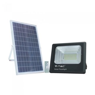 LED ηλιακός προβολέας 20W Λευκό 6400K Μαύρο σώμα V-TAC 94010