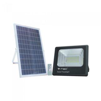 LED ηλιακός προβολέας 50W Φυσικό λευκό 4000K Μαύρο σώμα V-TAC 8578