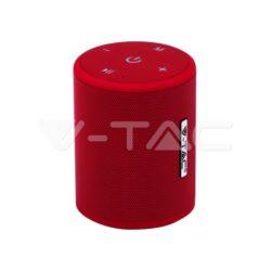 Ηχείο φορητό Bluetooth κόκκινο 1500mAh vtac 7719