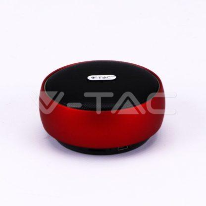 Ηχείο φορητό Bluetooth κόκκινο 800mAh vtac 7716