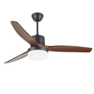 Ανεμιστήρας οροφής LED τηλεχειριζόμενος PONENTE 70W Φ130cm 3 ταχυτήτων σε καφέ σκούρο-καφέ κερασιά LINEME 02-00155