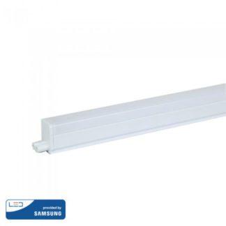 Φωτιστικό LED με διακόπτη T5 Samsung SMD 16W 1200mm Φυσικό λευκό 4000K Λευκό σώμα V-TAC 696