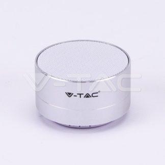 Mini ηχείο φορητό Bluetooth ασημί 400mAh vtac 7713