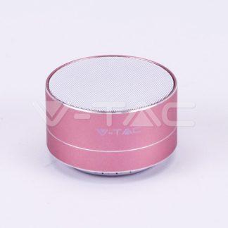 Mini ηχείο φορητό Bluetooth ροζ χαλκός 400mAh vtac 7715