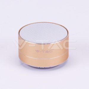 Mini ηχείο φορητό Bluetooth χρυσό 400mAh vtac 7714