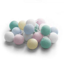 20 LED Cotton balls με φις (Candy) 220-240V – 27-00431