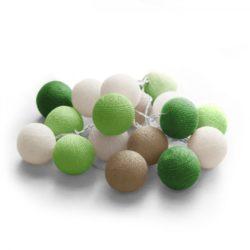 20 LED Cotton balls με φις (Forest) 220-240V – 27-00433
