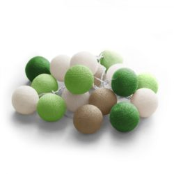20 LED Cotton balls με μπαταρία &  χρονοδιακόπτη (Forest) 27-00426
