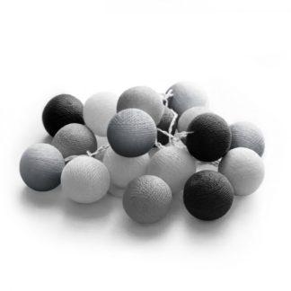 20 LED Cotton balls με μπαταρία & χρονοδιακόπτη (Glamour) - Χριστουγεννιάτικα Λαμπάκια - 27-00423