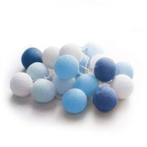 20 LED Cotton balls (Ocean) - Χριστουγεννιάτικα Λαμπάκια - 27-00427