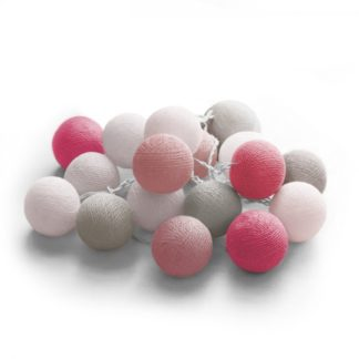 20 LED Cotton balls με μπαταρία & χρονοδιακόπτη (Unicorn) - Χριστουγεννιάτικα Λαμπάκια - 27-00422