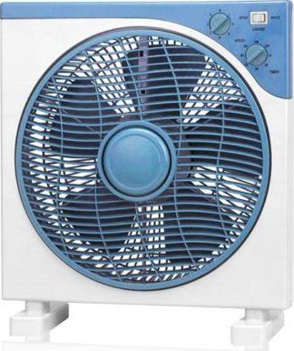 Ανεμιστήρας δαπέδου boxfan ισχύος 40W 3 ταχυτήτων χρώμα λευκό-μπλε LINE ME 02-00105