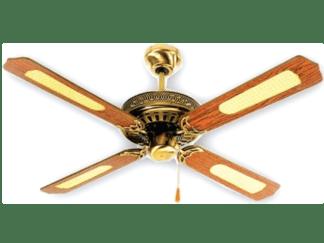 Ανεμιστήρας οροφής διακοσμητικός χωρίς φως Φ130cm 3 ταχυτήτων σε χρυσό-καφέ ξύλινο χρώμα LINEME 02-00109-6