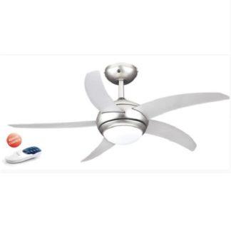 Ανεμιστήρας οροφής LED τηλεχειριζόμενος MAYA ισχύος 55W Φ110cm με 3 ταχύτητες σε τιτάνιο LINEME 02-00123