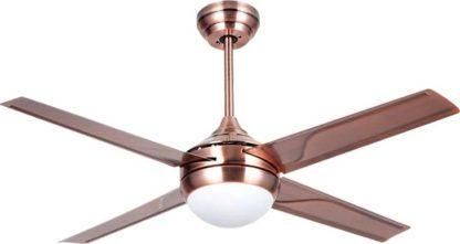 Ανεμιστήρας οροφής LED GREGALE τηλεχειριζόμενος ισχύος 70W Φ120cm 3 ταχυτήτων χάλκινος LINEME 02-00150